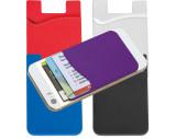 Kartenhalter aus Silikon zum Aufkleben auf das Smartphone